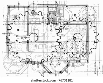 top view of architectural plan