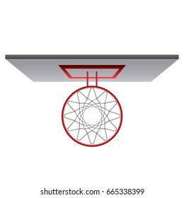 Top view of a basketball net, Vector illustration
