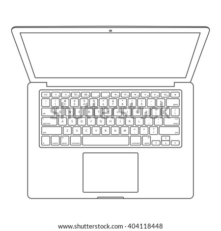 Top View Blank Laptop Computer Keyboard Stock Vector (Royalty Free ...