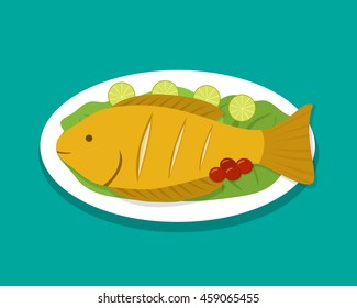 Fish Cooked Images Stock Photos Vectors Shutterstock