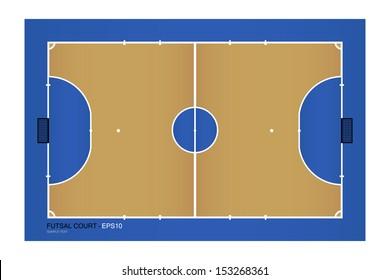 Top view of futsal court - Vector illustration