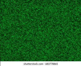 Top view of green grass texture of a soccer field. Concept for sport background or it can be used for environment background banner in vector illustration