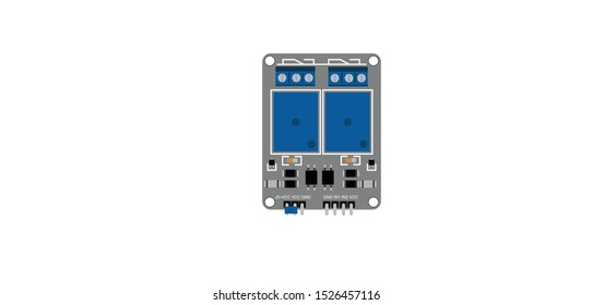 top view illustration of two channel relay switch