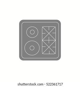 Top View Kitchen Elements Furniture Symbols Stock Vector Royalty