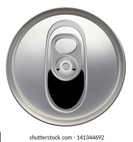 Top view of a opened soft drink can. EPS-10