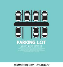 Top View Of Parking Lot Vector Illustration