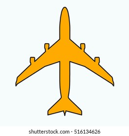 top view plane vector