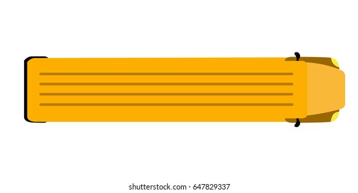 Top view of an school bus, Vector illustration