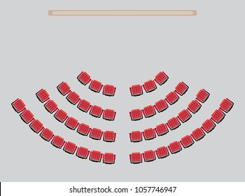Top View show Seat in the Theater  Vector and illustration