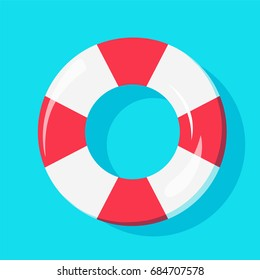 Top view of Swim Tube on water, For Summer Icon, Background Design. Vector illustration