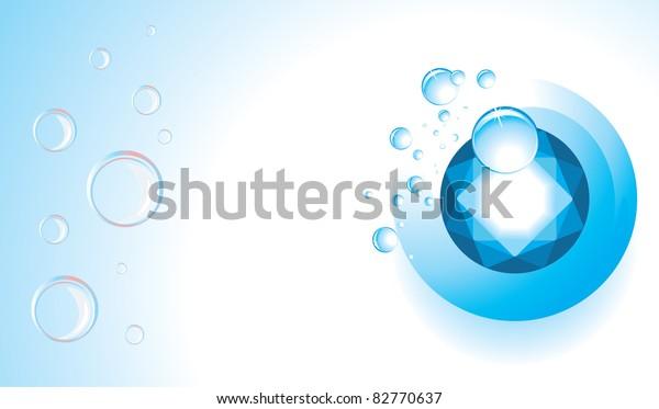 topaz-drops-bubbles-banner-vector-600w-8