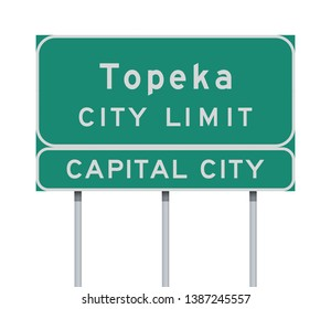 Topeka City Limit road sign