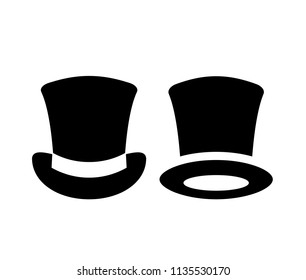Tophat vector icon isolated on white background