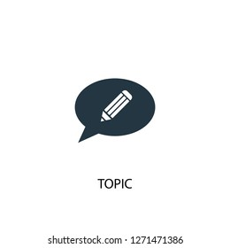 topic icon. Simple element illustration. topic concept symbol design. Can be used for web and mobile.
