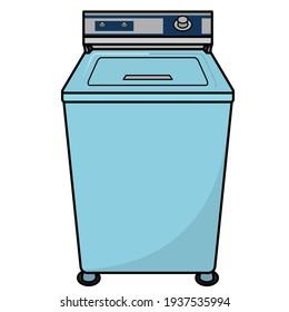 icône à plat de machine à laver à chargement par le dessus