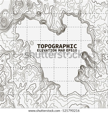 Black Hills Elevation Map.Topographic Map Background Concept Space Text Stock Vector Royalty