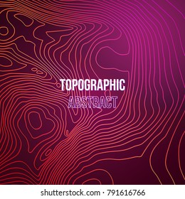 Topographic map colorful abstract background with contour altitude lines.
