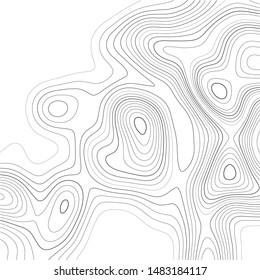 Topographic map. Contour abstract background. Vector illustration.