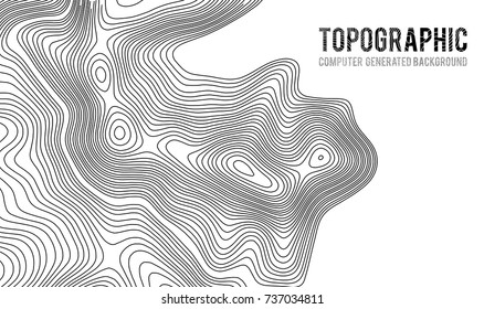 Topographic map contour background. Topo map with elevation. Contour map vector. Geographic World Topography map grid abstract vector illustration .
