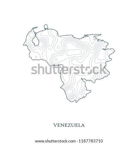 Venezuela Topographic Map.Topographic Map Contour Venezuela Vector Illustration Stock Vector