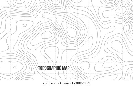 Topographic map. Geographic contour map background. Vector illustration.