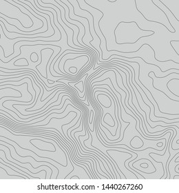 Topographic map lines background. Abstract vector illustration. Contour vector map.