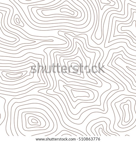 Topographic Map Vector Free.Topographic Map Terrain Contour Seamless Pattern Stock Vector