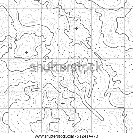 Topographic Map Vector Background Mountain Texture Stock Vector