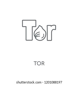 Tor linear icon. Tor concept stroke symbol design. Thin graphic elements vector illustration, outline pattern on a white background, eps 10.