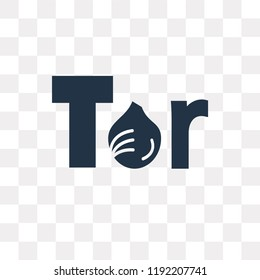 Tor vector icon isolated on transparent background, Tor transparency concept can be used web and mobile