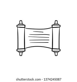 Torah scroll filled outline icon doodle drawing