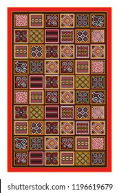 Toraja traditional carving life philosophy pattern