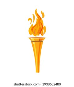 Torch icon isolated on white background. Fire. Flaming figure. Vector illustration isolated on white background.