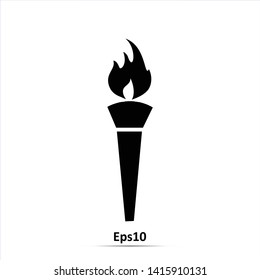 Torch icon. Vector Illustration. Eps10