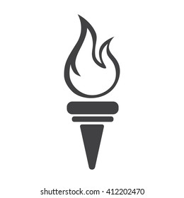 Torch icon Vector Illustration on the white background.