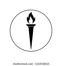 Torch icon - Vector, logo