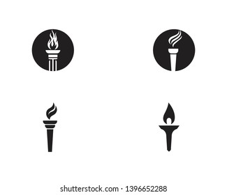 Torch logo and symbol design inspiration