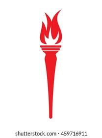 Torch vector icon
