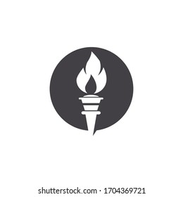 Torch vector icon illustration design template