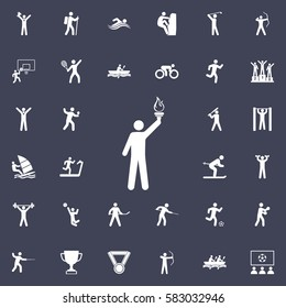 Torchbearer icon. Sport icons universal set for web and mobile