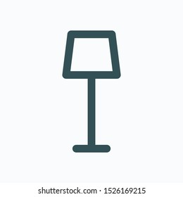 Torchere linear icon, floor lamp isolated vector icon