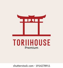 tori gate house logo icon vector image