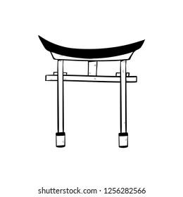 Torii Gate Icon doodle