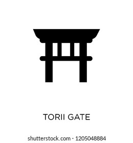 Torii gate icon. Torii gate symbol design from Architecture collection. Simple element vector illustration on white background.