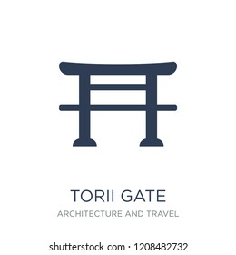 Torii gate icon. Trendy flat vector Torii gate icon on white background from Architecture and Travel collection, vector illustration can be use for web and mobile, eps10