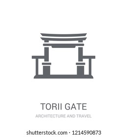 Torii gate icon. Trendy Torii gate logo concept on white background from Architecture and Travel collection. Suitable for use on web apps, mobile apps and print media.
