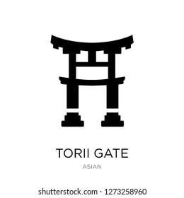 torii gate icon vector on white background, torii gate trendy filled icons from Asian collection, torii gate vector illustration