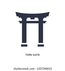 torii gate isolated icon. Simple element illustration from asian concept. torii gate editable logo symbol design on white background. Can be use for web and mobile.