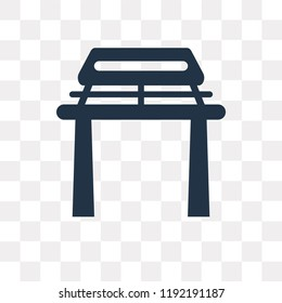 Torii gate vector icon isolated on transparent background, Torii gate transparency concept can be used web and mobile