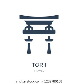 torii icon vector on white background, torii trendy filled icons from Travel collection, torii vector illustration